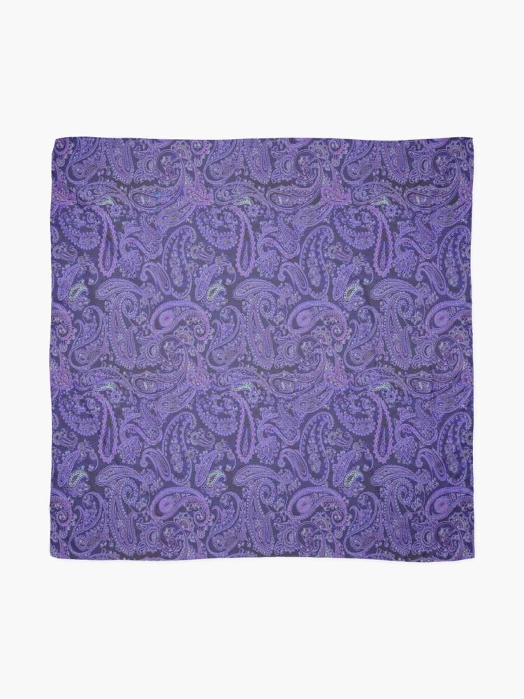 Alternate view of purple paisley Scarf