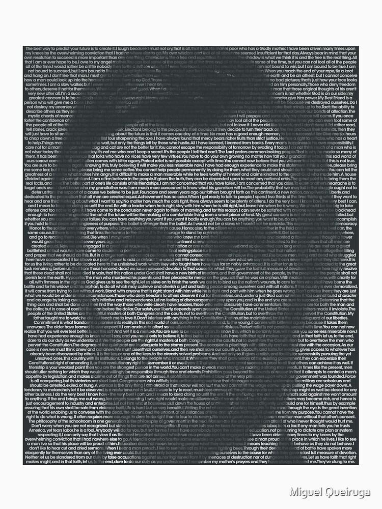 Abraham Lincoln Quote Portrait by qqqueiru