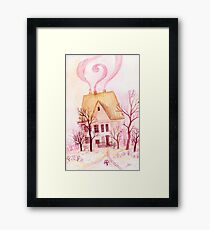 Pinky fairytale cottage Framed Print