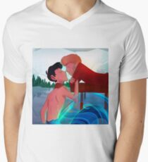 A Stolen Kiss Men's V-Neck T-Shirt