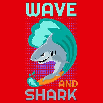 Surf - Wave and Surf Shark - Gift Idea by vicoli-shirts