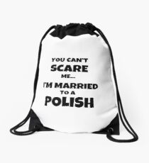 Polish Husband Wife Married Couple Funny Gift Idea Drawstring Bag