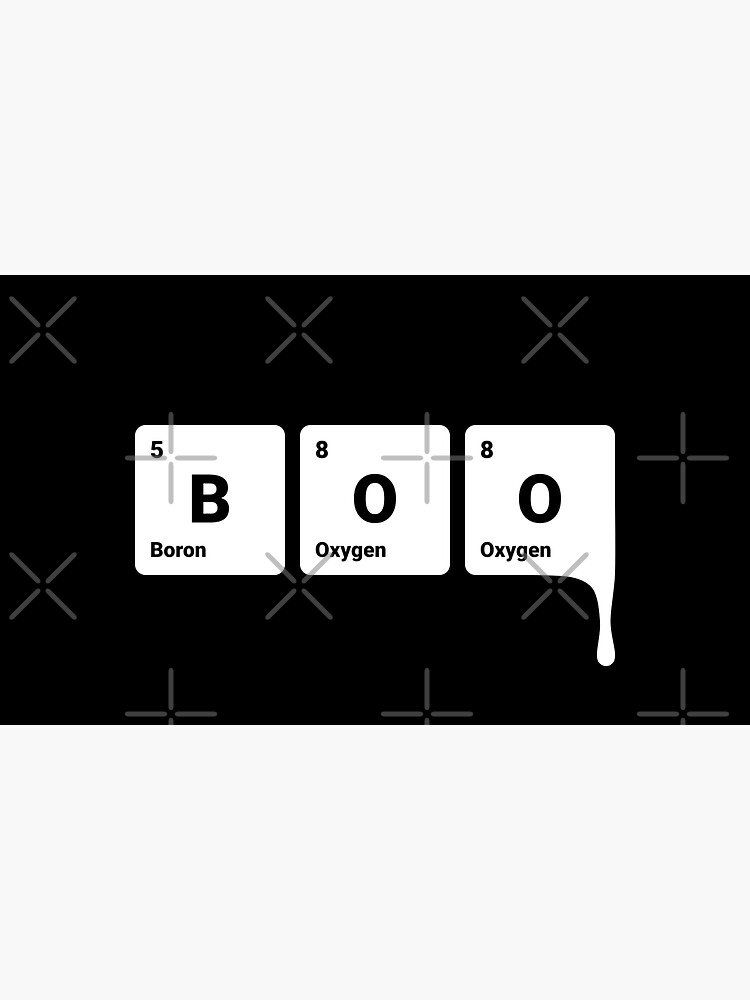 BOO! Scary Halloween Periodic Table Elements Boron Oxygen by science-gifts
