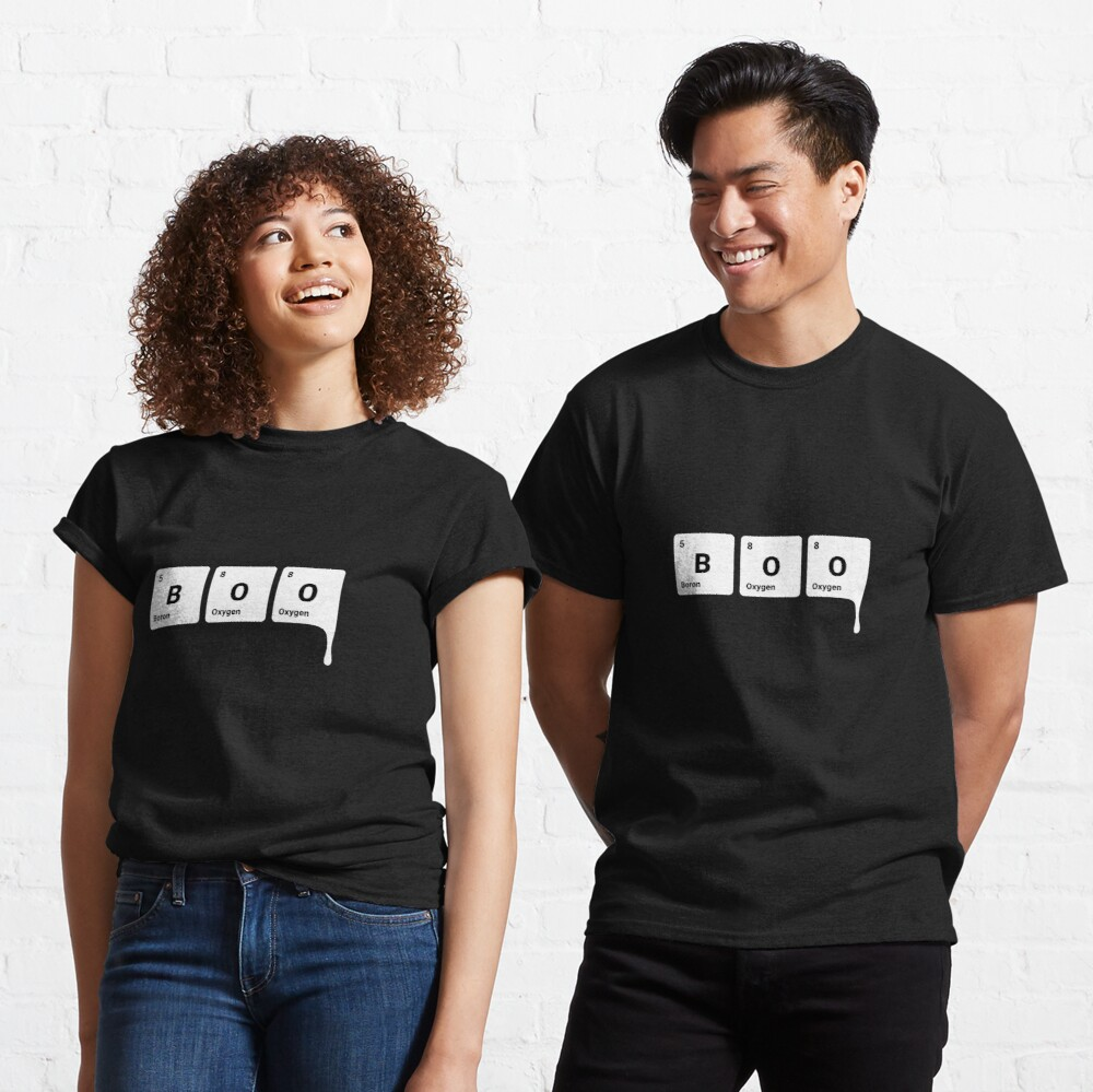 BOO! Scary Halloween Periodic Table Elements Boron Oxygen Classic T-Shirt