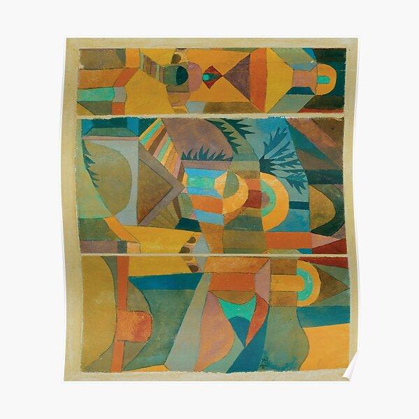Temple Gardens (jaune) Paul Klee Poster