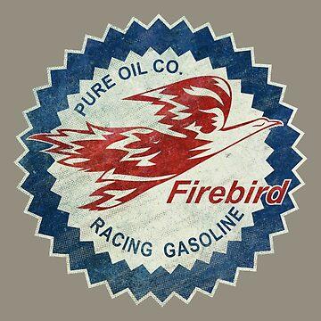 Ultra-Vintage Racing Gasoline Firebird Emblem  by Lidra
