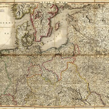 Seat of War, Map of Germany (1813) by allhistory