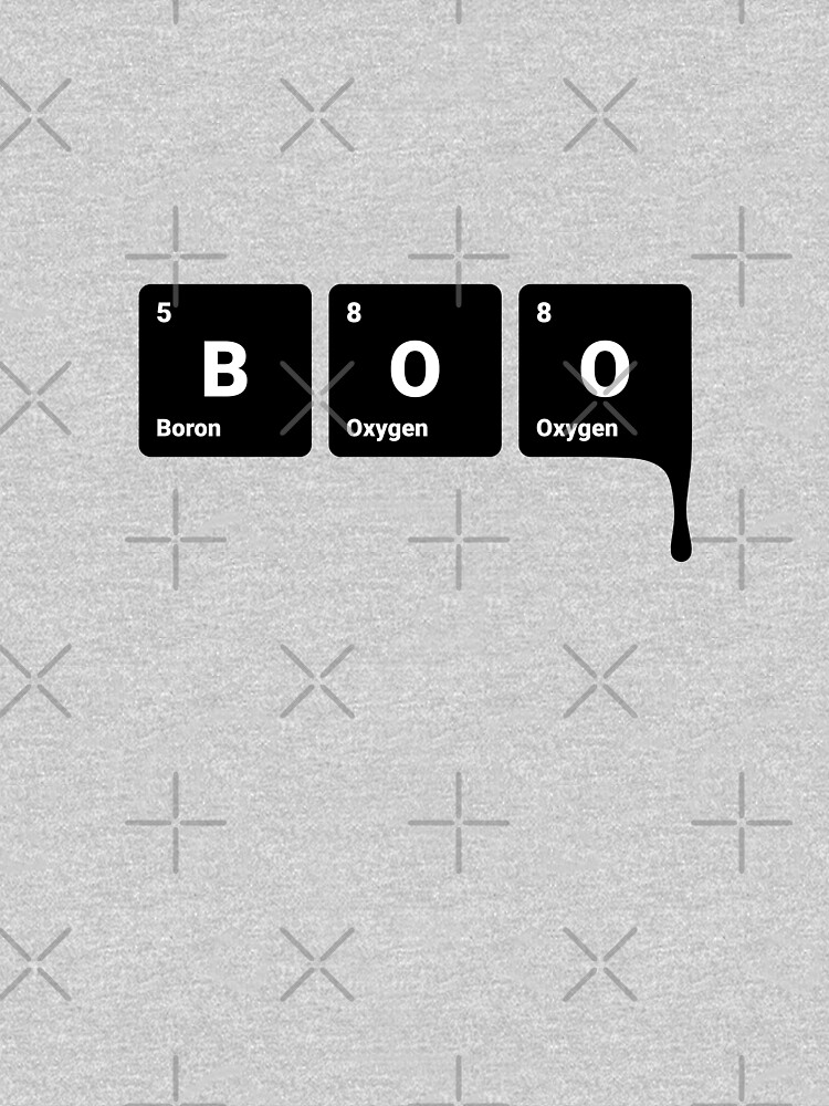BOO! Scary Halloween Periodic Table Elements Boron Oxygen (Inverted) by science-gifts