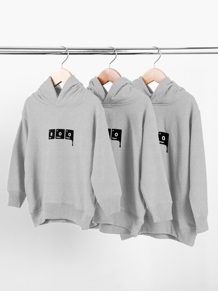 Alternate view of BOO! Scary Halloween Periodic Table Elements Boron Oxygen (Inverted) Toddler Pullover Hoodie