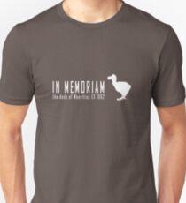 Extinct animals - Dodo of Mauritius In Memoriam white print Unisex T-Shirt
