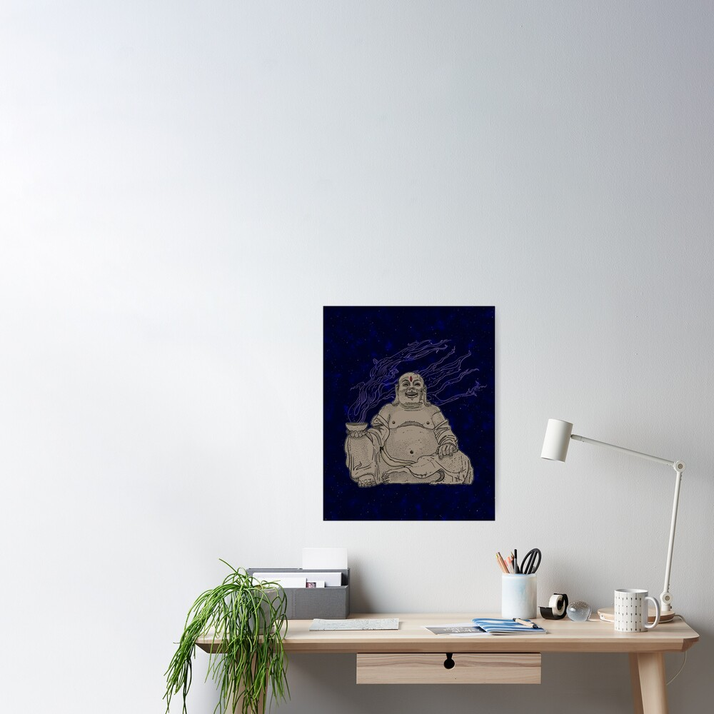 Alien Buddha Poster