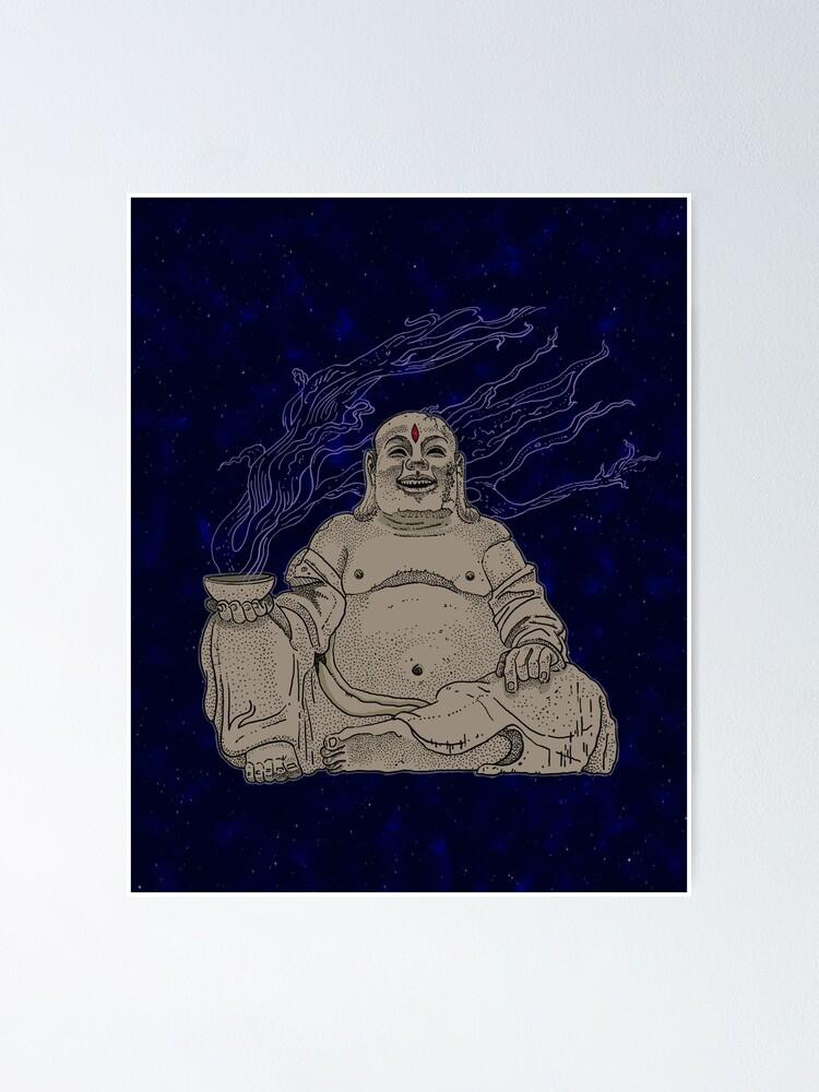 Alternate view of Alien Buddha Poster
