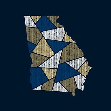 Georgia Mosaic - Blue by DesignSyndicate