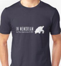 Extinct animals - Pinta Island tortoise In Memoriam white print Unisex T-Shirt