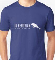 Extinct animals - Stellers sea cow In Memoriam white print Unisex T-Shirt
