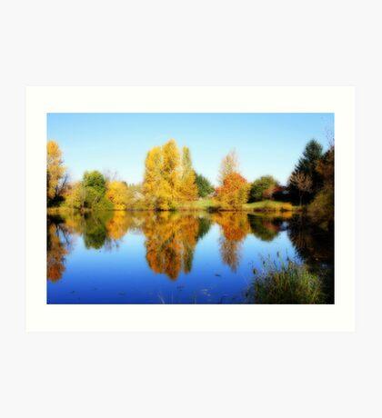Fall in Eugene Art Print