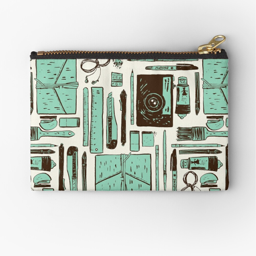 Artist's tools of trade Zipper Pouch