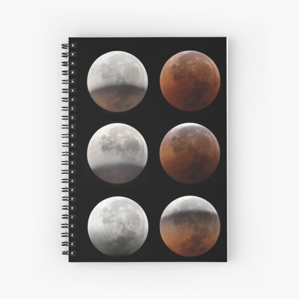 Super blood moon Spiral Notebook