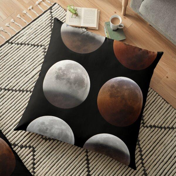 Super blood moon Floor Pillow