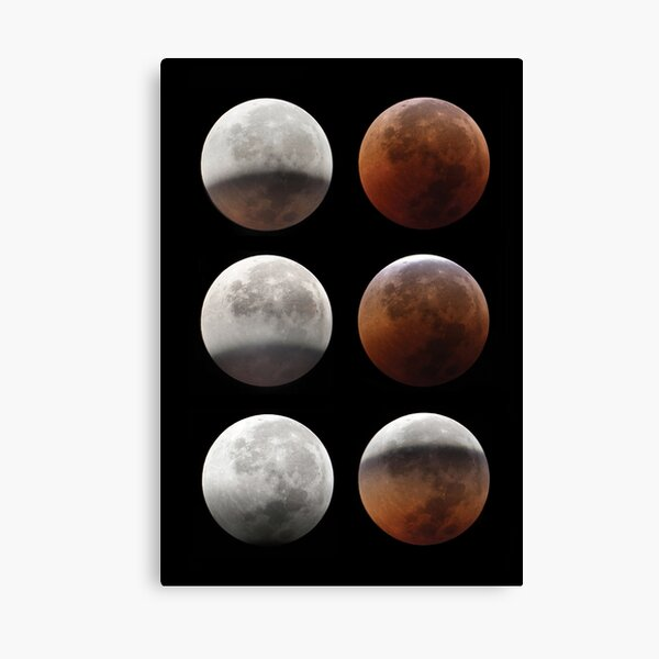 Super blood moon Canvas Print