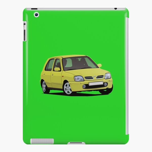 nissan micra march k11c illustration turquoise ipad case skin by knappidesign redbubble redbubble