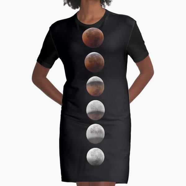 Super blood moon Graphic T-Shirt Dress