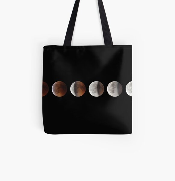 Super blood moon All Over Print Tote Bag