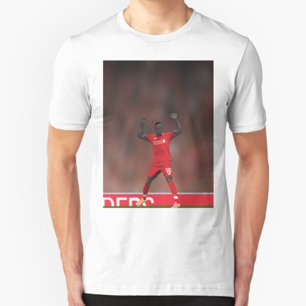 Sadio Mane Celebrates - Liverpool FC Slim Fit T-Shirt