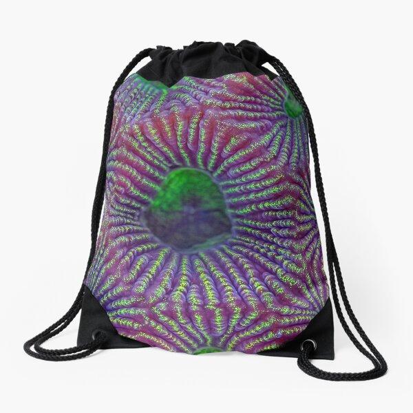 Favites coral Drawstring Bag
