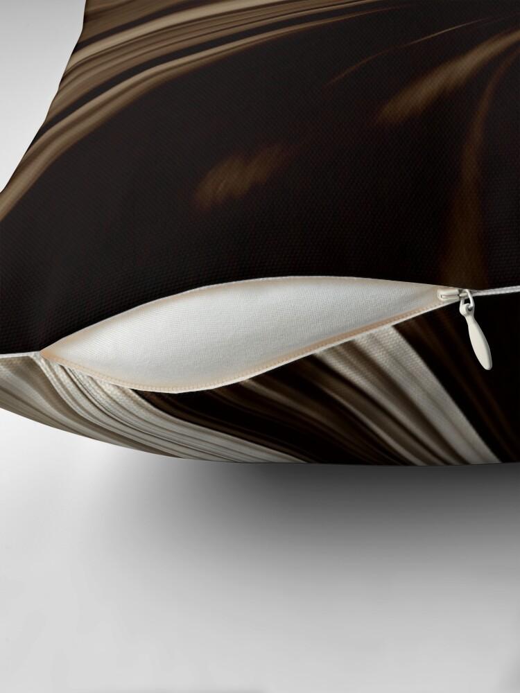 Alternate view of Milk Chocolate Swirl Abstract Print Pillow Throw Pillow