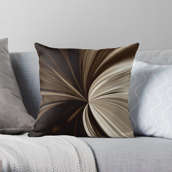 Milk Chocolate Swirl Abstract Print Pillow Throw Pillow