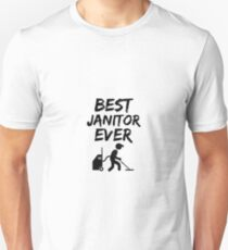 619a89534 Janitor Best Ever Funny Gift Idea Slim Fit T-Shirt