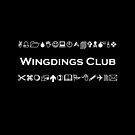 Wingdings Club Symbols for Computer Geeks Monotone Dark by TinyStarAmerica