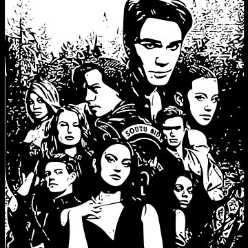 Riverdale Black And White Season 3 Poster by skr0201