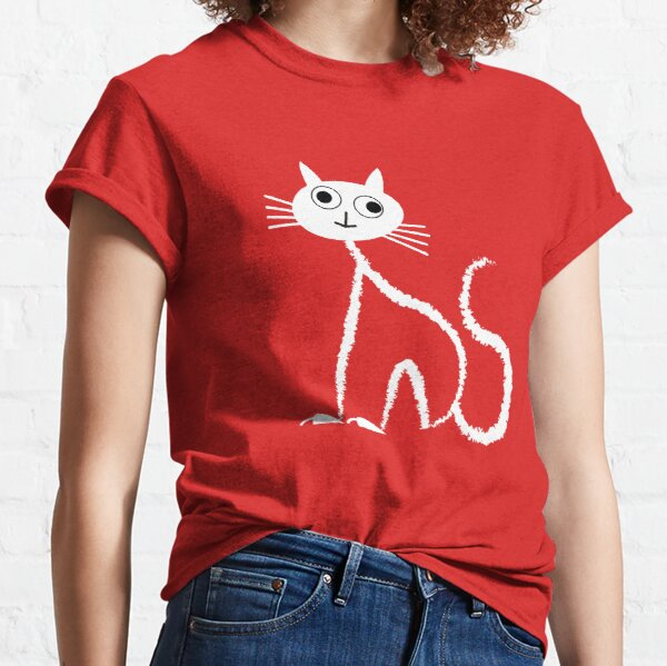 WEISSE KATZE MIT GROSSEN AUGEN Classic T-Shirt