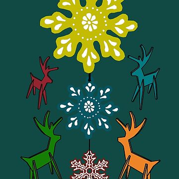 Reindeer Stars by SidelineArt