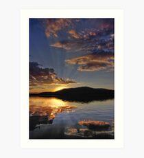 Magical Morning Fallen Leaf Lake Art Print