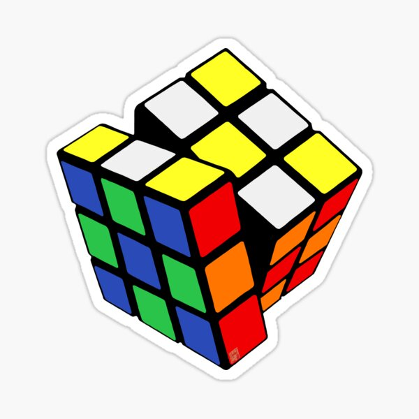 Rubik's Cube - Checkered Pattern Sticker