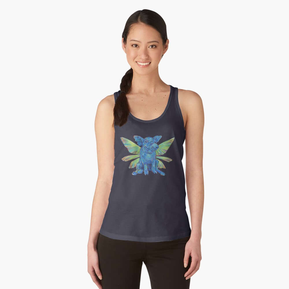 Fairy Pig painting - 2018 Women's Tank Top Front
