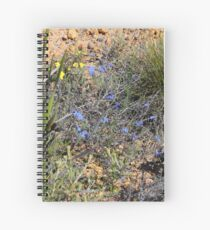 Blue Wildflower Spiral Notebook