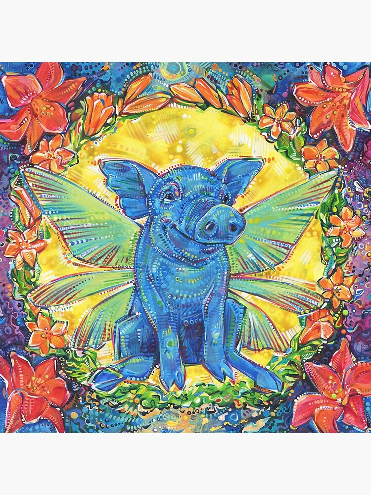 Fairy Pig painting - 2018 by gwennpaints