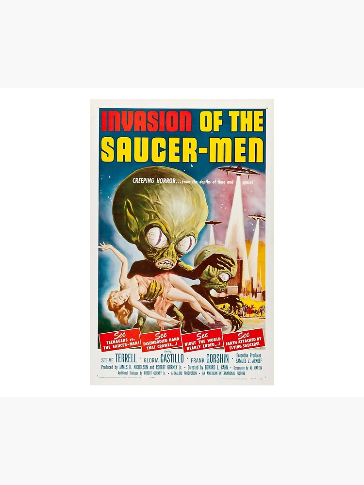 Saucer Men Horror Space Flying UFO Alien Film Vintage Poster Repro FREE SH