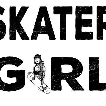 Skatergirl Shirt Skateboard Gift Longboard by Rueb