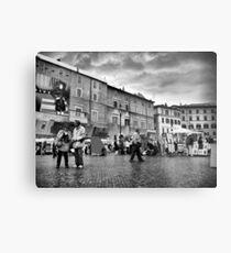Tourists in Piazza Navona Metal Print