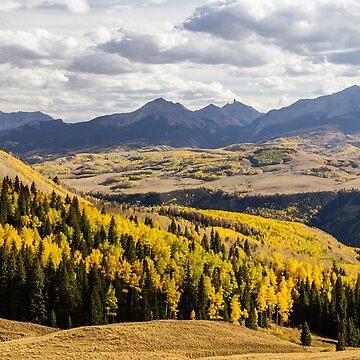 Autumn Season View of Sneffles Ten Peak by mrbo
