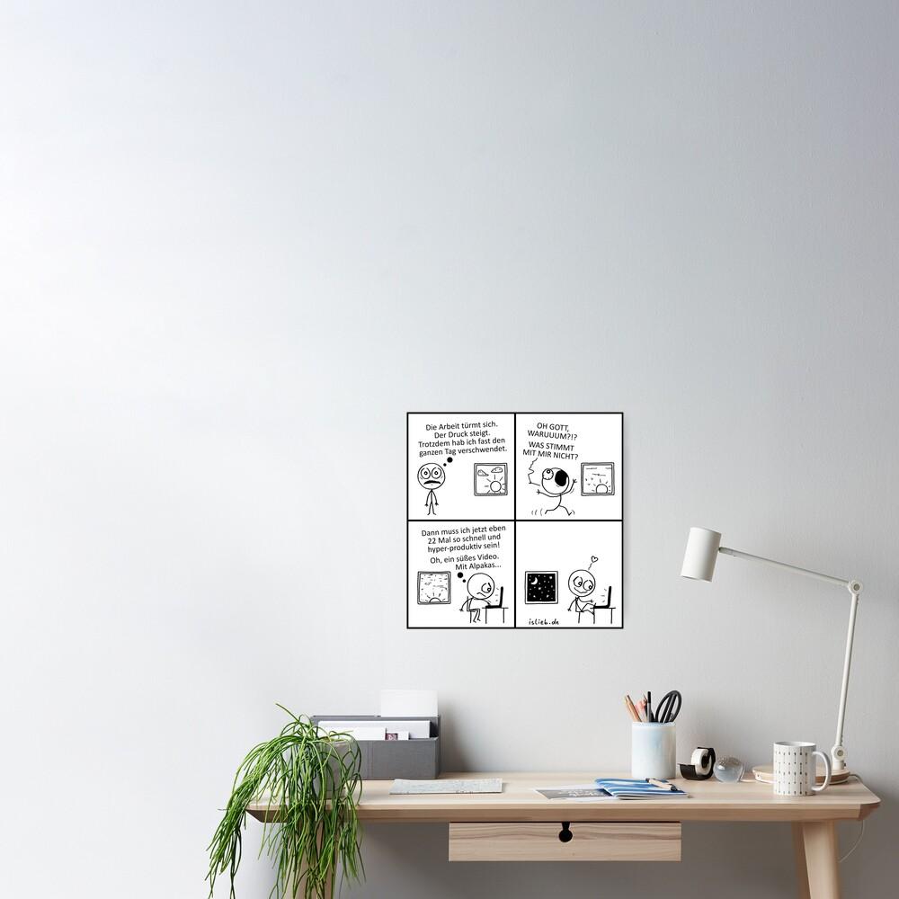 Produktivitaet islieb Comic Poster