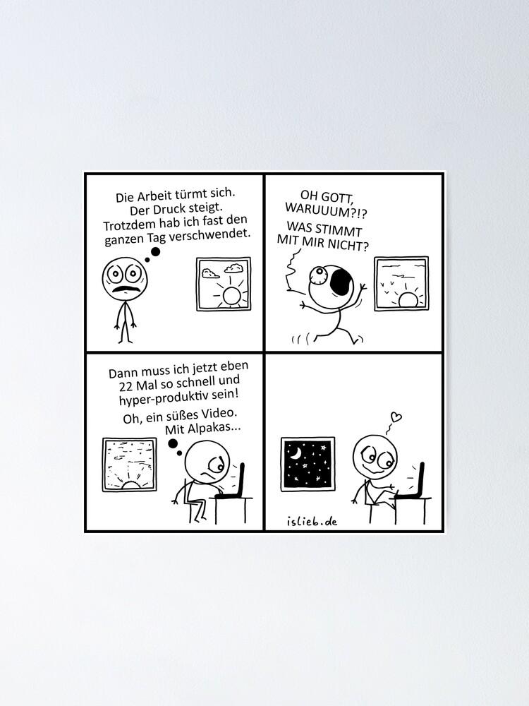Alternative Ansicht von Produktivitaet islieb Comic Poster