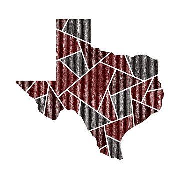 Texas Mosaic - Maroon by DesignSyndicate