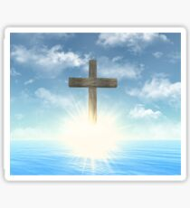 Wooden Cross above the water Sticker