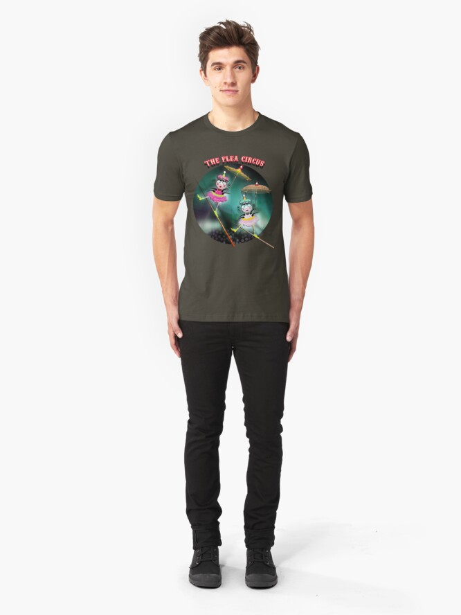 Alternate view of The Fleas Circus - The Tightrope Walker Fleas Sisters Slim Fit T-Shirt